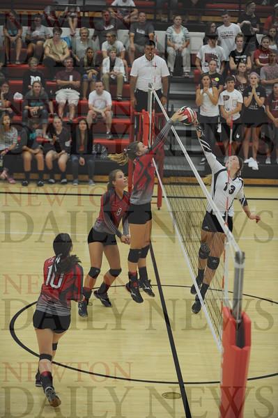Newton High volleyball vs. Pella Christian 9-8-2015